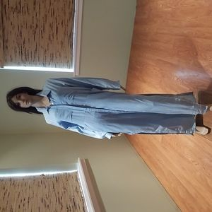 Haoduoyi Blue Denim Maxi Shirt Dress Size XXL